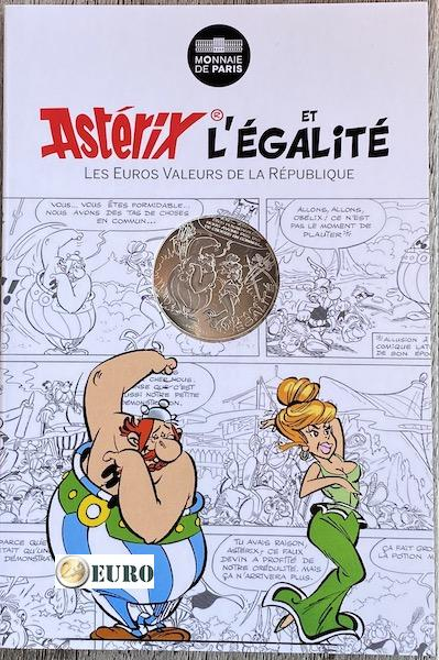 10 euro France 2015 - Asterix égalité Prophecies of the Soothsayer - in coincard