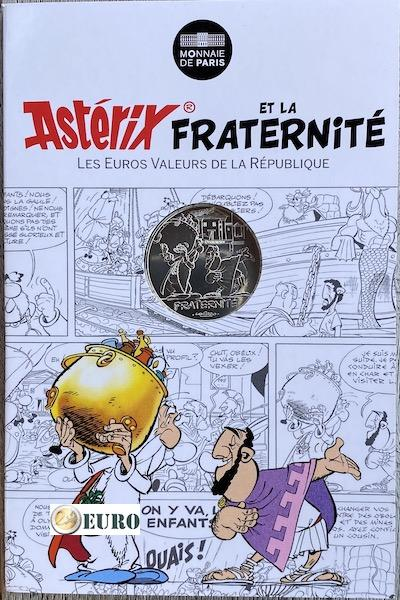 10 euro France 2015 - Asterix fraternité at the Olympic Games - in coincard