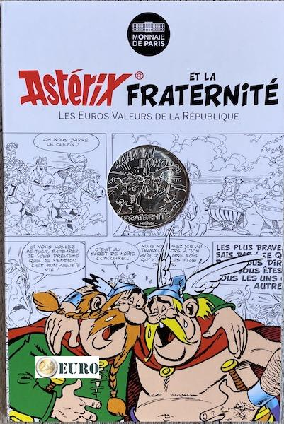 10 euro France 2015 - Asterix fraternité in Belgium - in coincard
