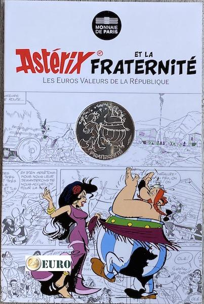 10 euro France 2015 - Asterix fraternité in Spain - in coincard