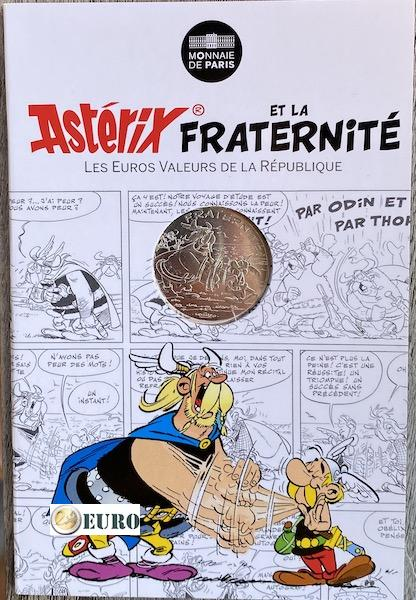 10 euro France 2015 - Asterix fraternité and the Normans - in coincard