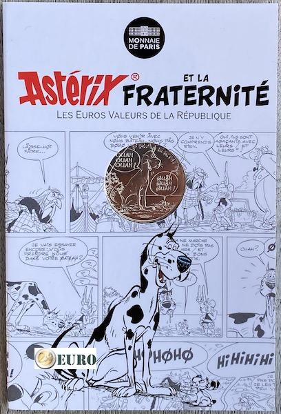 10 euro France 2015 - Asterix fraternité The Great Crossing - in coincard