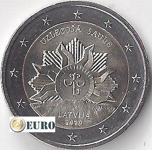 2 euro Latvia 2019 - Coat of Arms - Rising Sun UNC