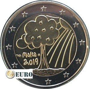 2 euro Malta 2019 - Nature and Environment UNC mint mark MdP
