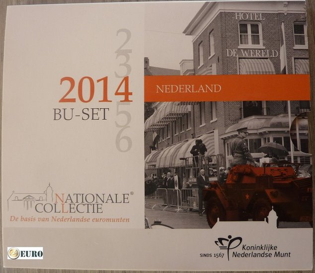 Euro set BU FDC Netherlands 2014 Liberation Day