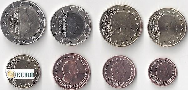 Euro set UNC Luxembourg 2018