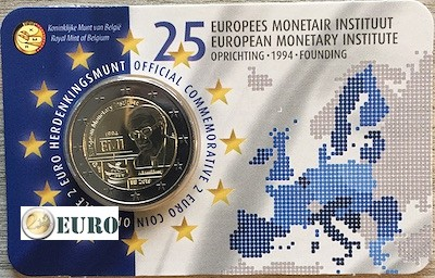 2 euro Belgium 2019 - 25 years EMI BU FDC Coincard NL