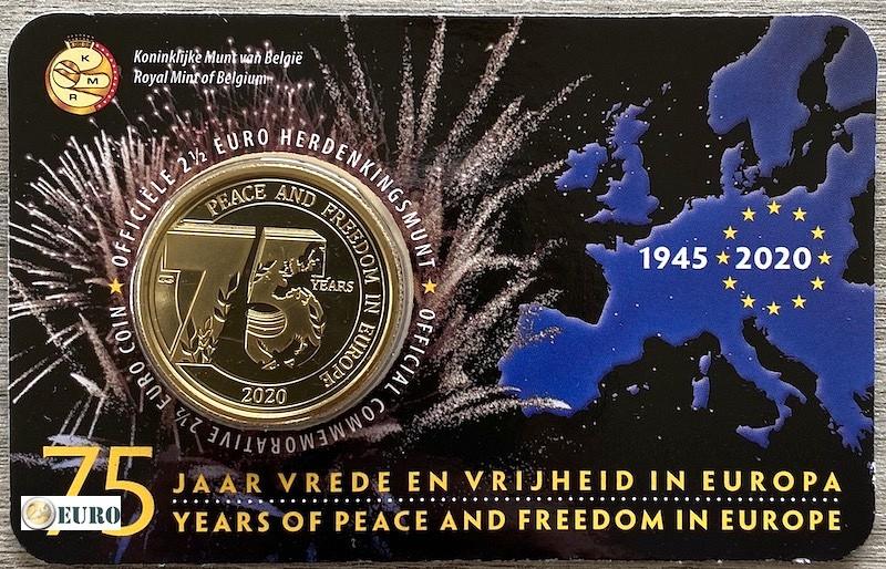 2,50 euro Belgium 2020 - 75 years peace in Europe BU FDC Coincard NL