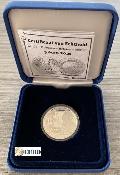 5 euro Belgium 2021 - Charles Van Depoele BE Proof Silver