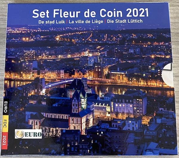 Euro set BU FDC Belgium 2021 Liege