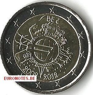 2 euro Belgium 2012 - 10 year euro UNC
