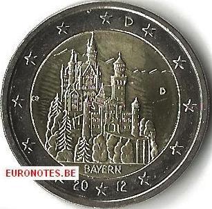 Germany 2012 - 2 euro D Bavaria UNC