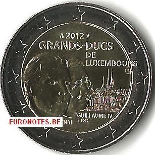 Luxembourg 2012 - 2 euro Grand Duke Henri and Guillaume UNC