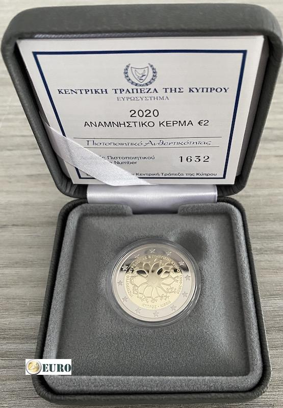 2 euro Cyprus 2020 - Institute for neurology and genetics BE Proof