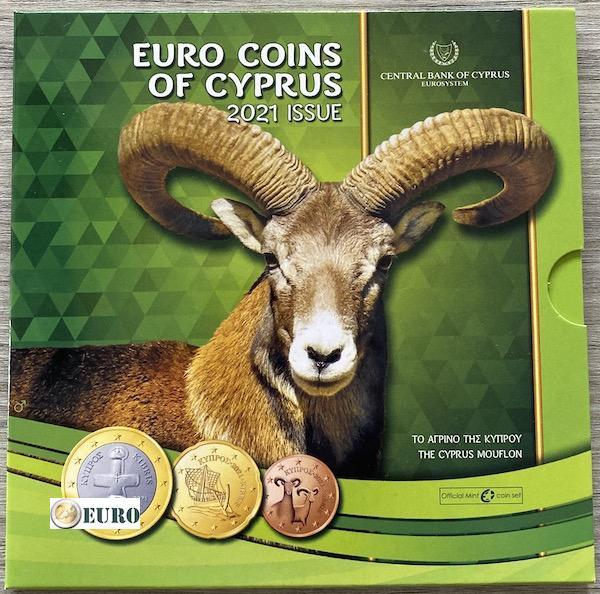 Euro set BU FDC Cyprus 2021 - Mouflon