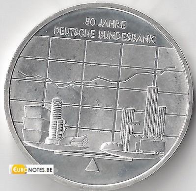 Germany 2007 - 10 euro J 50 years Bundesbank BU FDC
