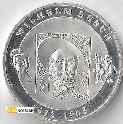 Germany 2008 - 10 euro D Wilhelm Busch BU FDC
