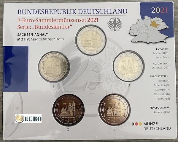 2 euro Germany 2021 - ADFGJ Saxony-Anhalt BU FDC