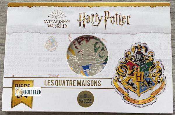 50 euro France 2021 - Harry Potter Hogwarts Crests BE Proof Silver Coloured