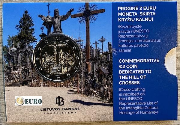 2 euro Lithuania 2020 - Hill of Crosses BU FDC Coincard