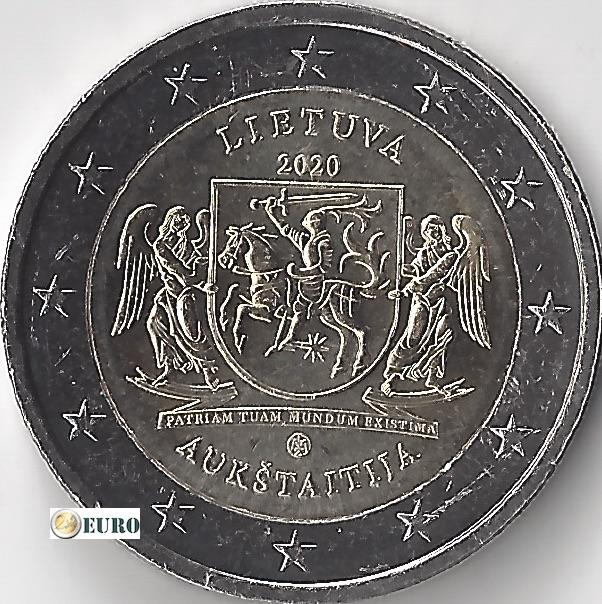 2 euro Lithuania 2020 - Aukstaitija Region UNC