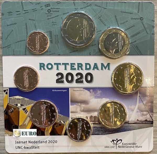 Euro set UNC Netherlands 2020 Rotterdam