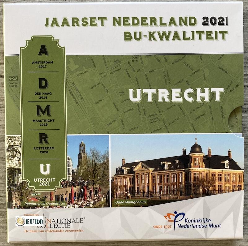 Euro set BU FDC Netherlands 2021 Utrecht