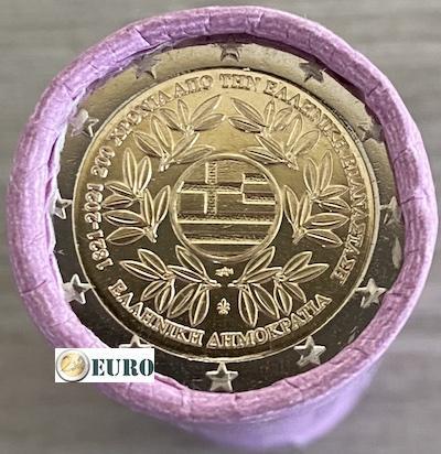 Roll 2 euro Greece 2021 - Greek Revolution