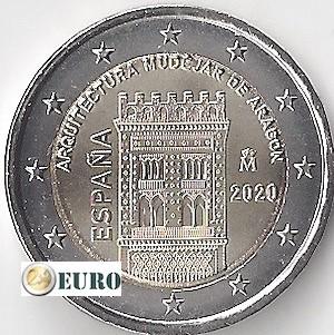 2 euro Spain 2020 - Mudéjar Aragón UNC