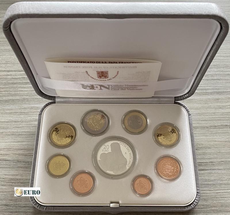 Euro set BE Proof Vatican 2020 + 20 euro silver
