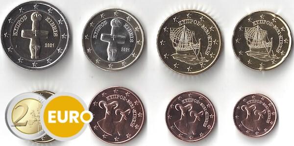 Euro set UNC Cyprus 2021