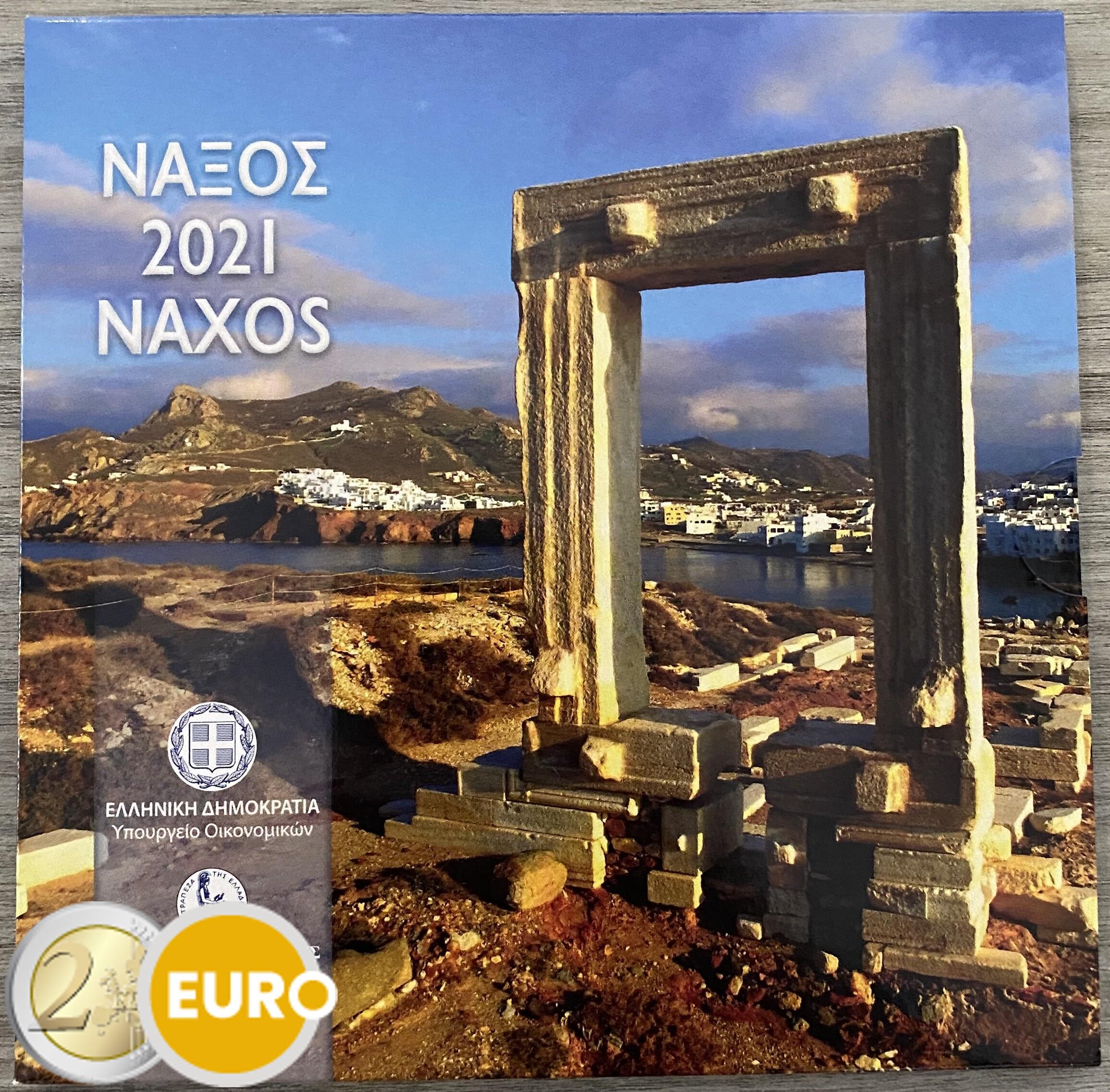 Euro set BU FDC Greece 2021 Naxos
