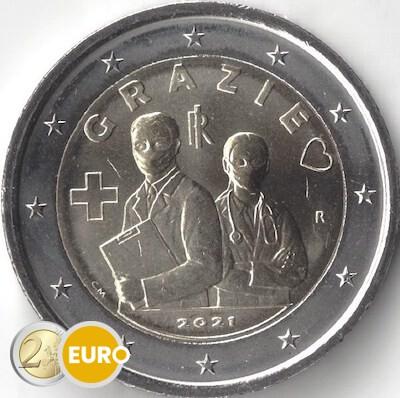 2 euro Italy 2021 - Grazie Health care UNC