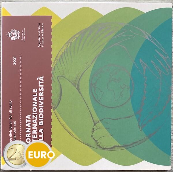 Euro set BU FDC San Marino 2021 + 5 euro biodiversity