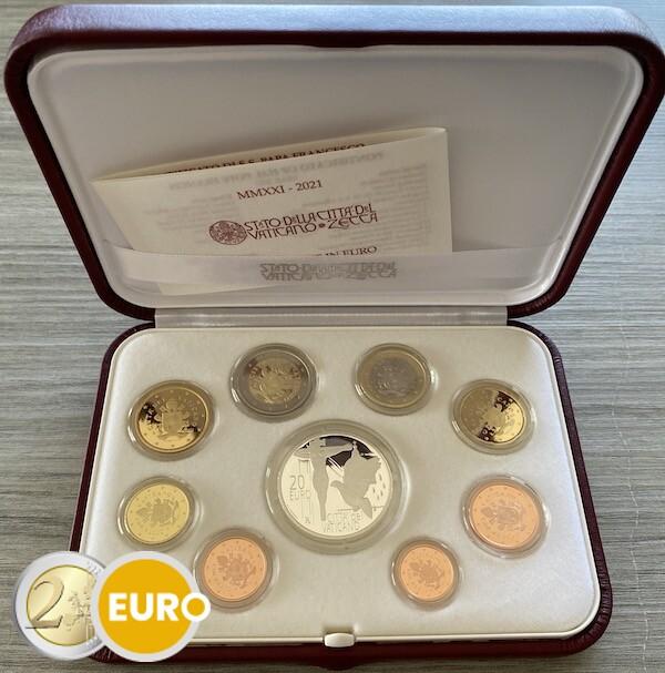 Euro set BE Proof Vatican 2021 + 20 euro silver