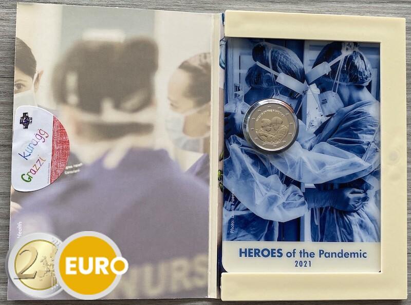 2 euro Malta 2021 - Heroes of the pandemic BU FDC Coincard mint mark MdP