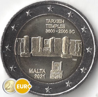2 euro Malta 2021 - Tarxien Temple UNC