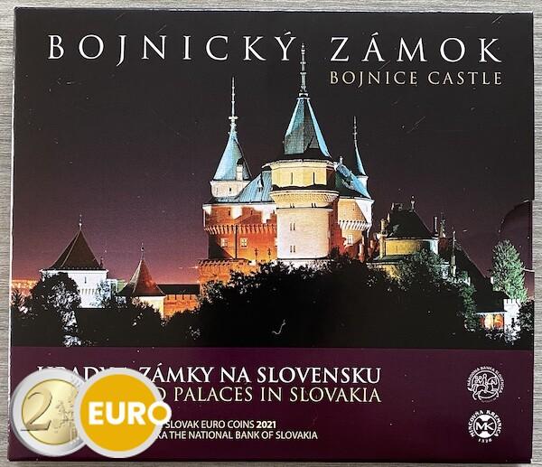 Euro set BU FDC Slovakia 2021 - Bojnice Castle